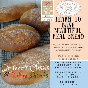 Bread Making Classes with Room Forty @ The Hilltop Centre Mossley Hill Church